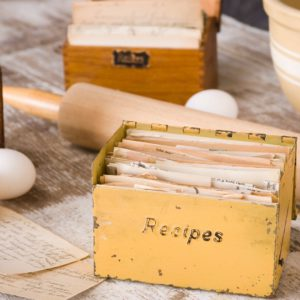 Recipe Cards hold history